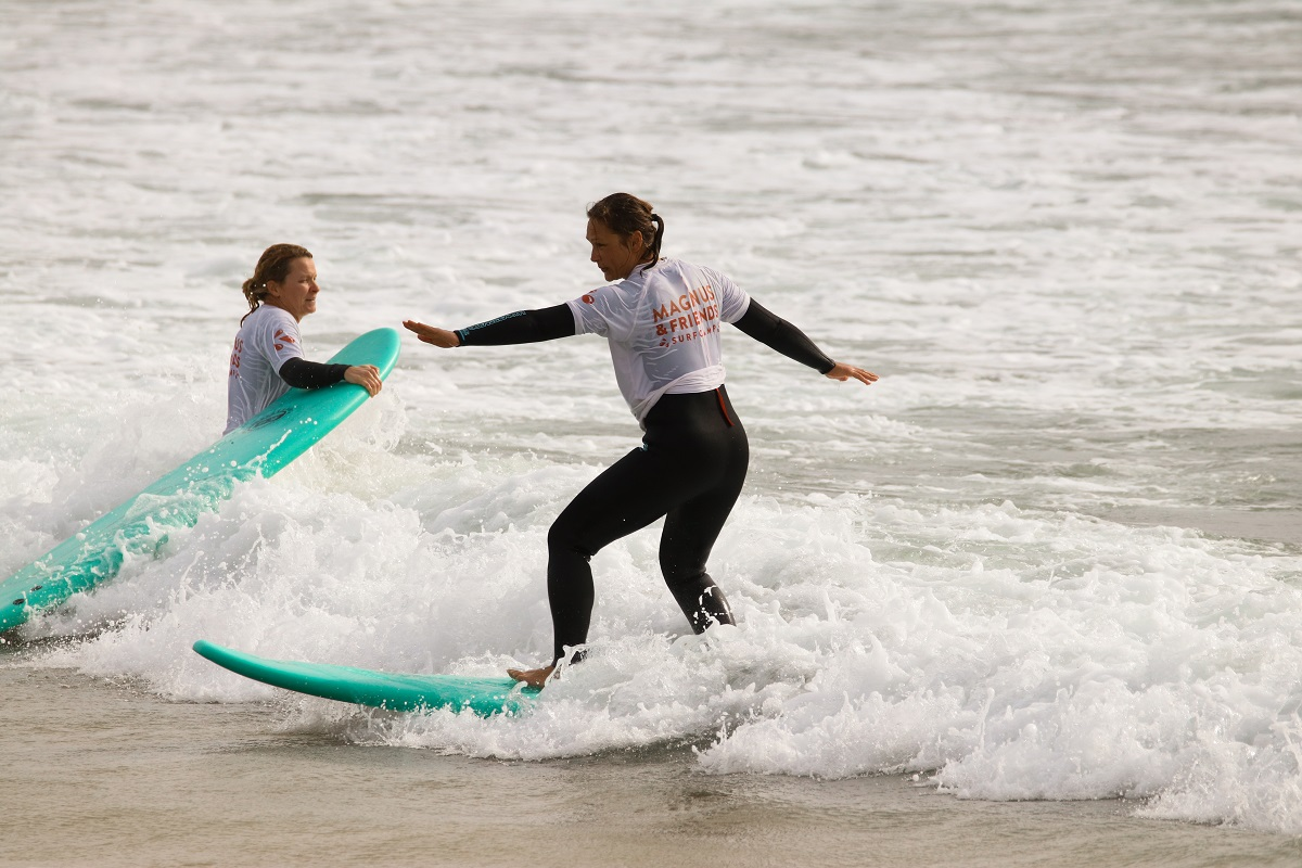 Känslan att lära sig surfa